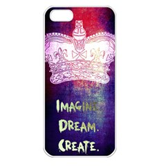 Imagine  Dream  Create  Apple Iphone 5 Seamless Case (white)