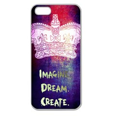 Imagine. Dream. Create. Apple Seamless iPhone 5 Case (Clear) by TheTalkingDead