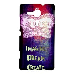 Imagine. Dream. Create. Sony Xperia Sp M35H Hardshell Case by TheTalkingDead