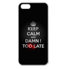 Too Late ! Apple Seamless Iphone 5 Case (clear)