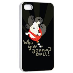 Who You Gonna Call Apple Iphone 4/4s Seamless Case (white) by Contest1771913