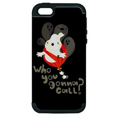 Who You Gonna Call Apple Iphone 5 Hardshell Case (pc+silicone) by Contest1771913