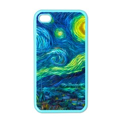 Starry Night Apple Iphone 4 Case (color)