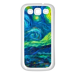 Starry Night Samsung Galaxy S3 Back Case (white)