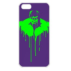 Incredible Green Apple Iphone 5 Seamless Case (white)