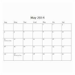 Calendar By C1   Wall Calendar 8 5  X 6    362t1w7radc2   Www Artscow Com May 2014