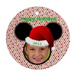 Minnie Mouse ornament, 2 sides - Round Ornament (Two Sides)