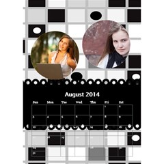 Calendar By C1   Desktop Calendar 6  X 8 5    Hitknwszhxws   Www Artscow Com Aug 2014