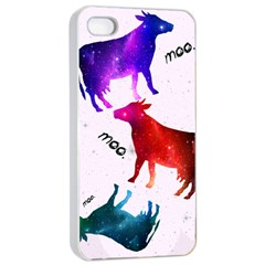 Cowcow   Cow  Apple Iphone 4/4s Seamless Case (white) by TheTalkingDead