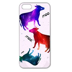 Cowcow   Cow  Apple Seamless Iphone 5 Case (clear)