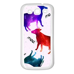 Cowcow   Cow  Samsung Galaxy S3 Back Case (white)
