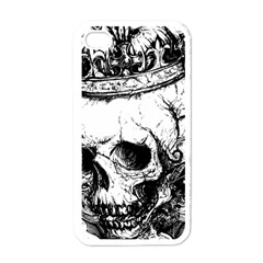 Skull King Apple Iphone 4 Case (white) by TheTalkingDead
