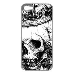 Skull King Apple Iphone 5 Case (silver) by TheTalkingDead