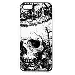 Skull King Apple Iphone 5 Seamless Case (black) by TheTalkingDead