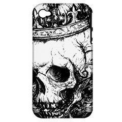 Skull King Apple Iphone 4/4s Hardshell Case (pc+silicone) by TheTalkingDead