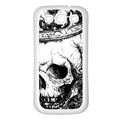 Skull King Samsung Galaxy S3 Back Case (white) by TheTalkingDead