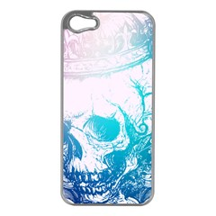 Skull King Colors Apple iPhone 5 Case (Silver) by TheTalkingDead