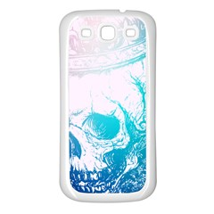 Skull King Colors Samsung Galaxy S3 Back Case (white) by TheTalkingDead