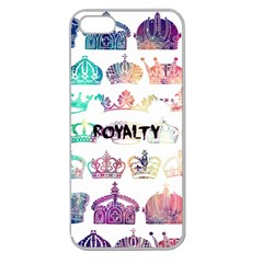 royalty Apple Seamless iPhone 5 Case (Clear) by TheTalkingDead