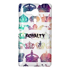 royalty Sony Xperia Sp M35H Hardshell Case by TheTalkingDead