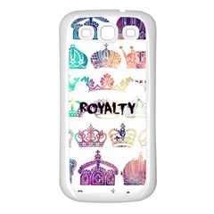 Royalty Samsung Galaxy S3 Back Case (white) by TheTalkingDead