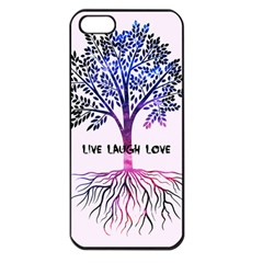 Tree Of Live Laugh Love  Apple Iphone 5 Seamless Case (black)