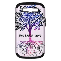 Tree Of Live Laugh Love  Samsung Galaxy S Iii Hardshell Case (pc+silicone) by TheTalkingDead