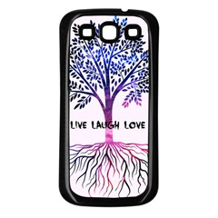 Tree Of Live Laugh Love  Samsung Galaxy S3 Back Case (black) by TheTalkingDead