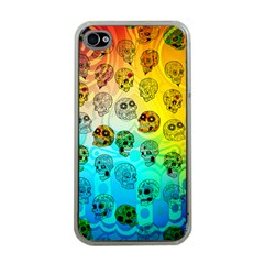 Sugary Skulls Apple Iphone 4 Case (clear) by TheTalkingDead