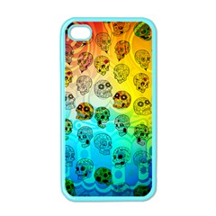 Sugary Skulls Apple Iphone 4 Case (color) by TheTalkingDead