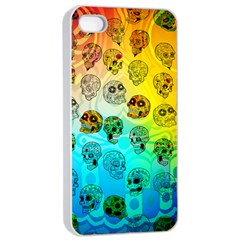 Sugary Skulls Apple Iphone 4/4s Seamless Case (white) by TheTalkingDead