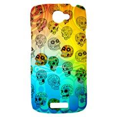 Sugary Skulls HTC One S Hardshell Case  by TheTalkingDead