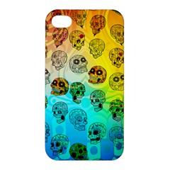 Sugary Skulls Apple Iphone 4/4s Premium Hardshell Case by TheTalkingDead