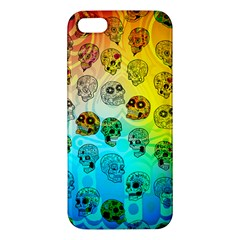Sugary Skulls Iphone 5 Premium Hardshell Case by TheTalkingDead