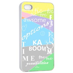 Oh Write Apple Iphone 4/4s Seamless Case (white) by Contest1719785