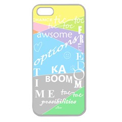 oh write Apple Seamless iPhone 5 Case (Clear) by Contest1719785