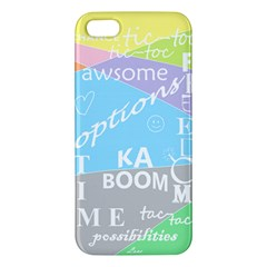 Oh Write Iphone 5 Premium Hardshell Case by Contest1719785