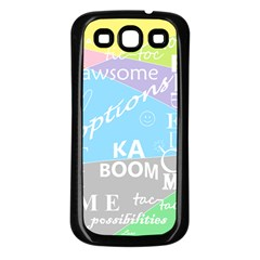 oh write Samsung Galaxy S3 Back Case (Black) by Contest1719785