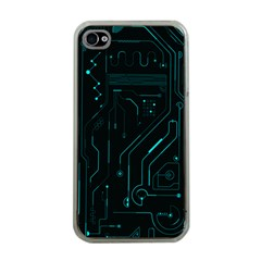Circuit Board Apple Iphone 4 Case (clear)