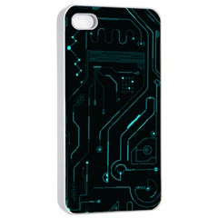 Circuit Board Apple Iphone 4/4s Seamless Case (white) by TheTalkingDead