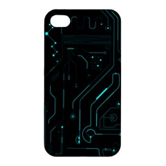 Circuit Board Apple Iphone 4/4s Hardshell Case by TheTalkingDead