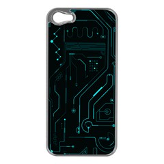 Circuit Board Apple Iphone 5 Case (silver) by TheTalkingDead