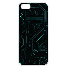 Circuit Board Apple Iphone 5 Seamless Case (white) by TheTalkingDead