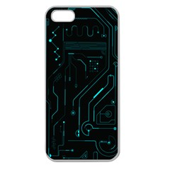 Circuit Board Apple Seamless Iphone 5 Case (clear) by TheTalkingDead