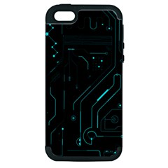 Circuit Board Apple Iphone 5 Hardshell Case (pc+silicone) by TheTalkingDead