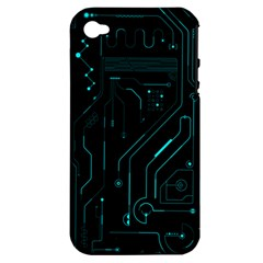 Circuit Board Apple Iphone 4/4s Hardshell Case (pc+silicone) by TheTalkingDead