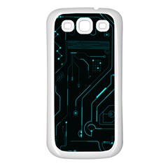 Circuit Board Samsung Galaxy S3 Back Case (white) by TheTalkingDead