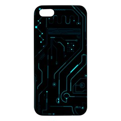 Circuit Board Iphone 5s Premium Hardshell Case by TheTalkingDead
