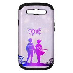 Love Samsung Galaxy S Iii Hardshell Case (pc+silicone)