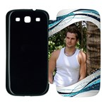 Blue Wave Samsung Galaxy S3 Flip Cover Case